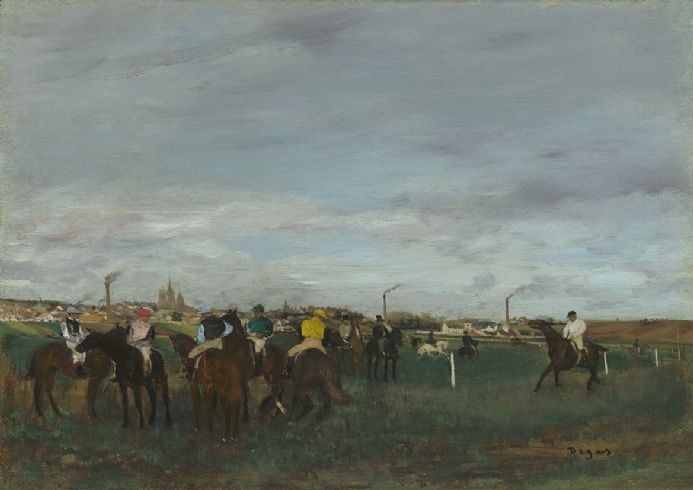 Degas, Edgar: The Races. Fine Art Print/Poster. Sizes: A4/A3/A2/A1 (003546)